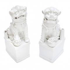 A Pair of Blanc de Chine Buddhist Lions Foo Dogs Early Kangxi 1662 1722 - 619809