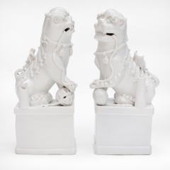 A Pair of Blanc de Chine Buddhist Lions Foo Dogs Early Kangxi 1662 1722 - 619821