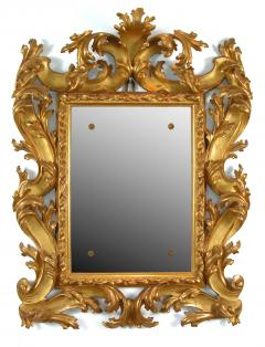 A Pair of Carved and Gilded Baroque Mirrors - 115622