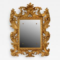 A Pair of Carved and Gilded Baroque Mirrors - 115956