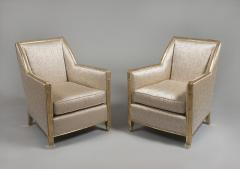 A Pair of Carved and Gilt Art Deco Club Chairs by Dim - 449122