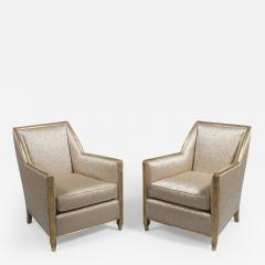 A Pair of Carved and Gilt Art Deco Club Chairs by Dim - 449557