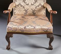 A Pair of Chippendale Gainsborough Chairs - 554424