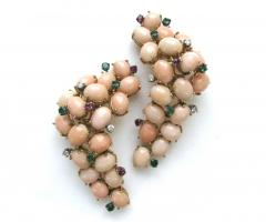 A Pair of Coral Ear Clips c1960 - 44925