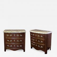A Pair of Danish Empire Style Mahogany Bow Front Inalid Chests - 199598