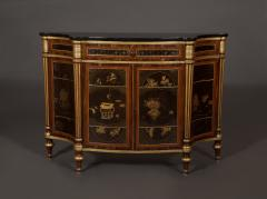 A Pair of Directoire Taste Cabinets Set With Chinese Black Lacquer Panels - 587789