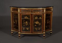 A Pair of Directoire Taste Cabinets Set With Chinese Black Lacquer Panels - 587791