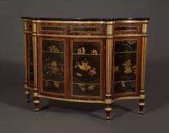 A Pair of Directoire Taste Cabinets Set With Chinese Black Lacquer Panels - 587793