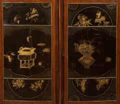 A Pair of Directoire Taste Cabinets Set With Chinese Black Lacquer Panels - 587795