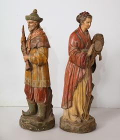 A Pair of English Regency Revival Polychrome Chinese Musicians - 2114743