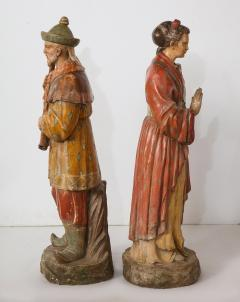 A Pair of English Regency Revival Polychrome Chinese Musicians - 2114745