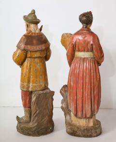 A Pair of English Regency Revival Polychrome Chinese Musicians - 2114747