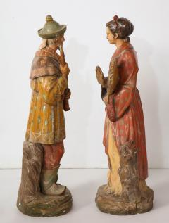 A Pair of English Regency Revival Polychrome Chinese Musicians - 2114749