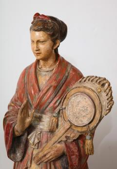 A Pair of English Regency Revival Polychrome Chinese Musicians - 2114751