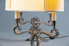 A Pair of French Art Deco Two Branch Table Lamps - 1842347