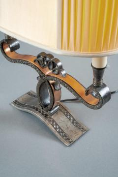 A Pair of French Art Deco Two Branch Table Lamps - 1842348