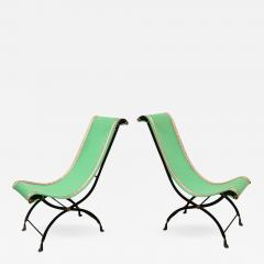 A Pair Of French Empire Style Campaign Chairs   505620