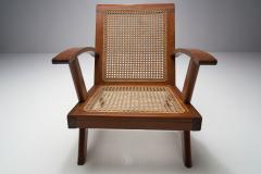 A Pair of French Teak Armchairs France 1950s - 1763399