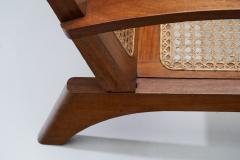 A Pair of French Teak Armchairs France 1950s - 1763404