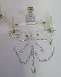 A Pair of George III Crystal Two Light Candelabra - 1912457