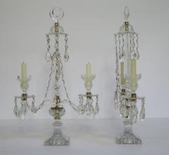 A Pair of George III Crystal Two Light Candelabra - 1912458