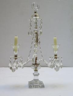 A Pair of George III Crystal Two Light Candelabra - 1912459