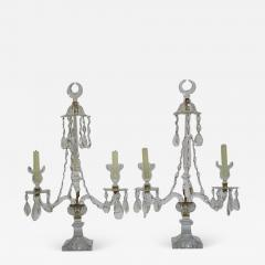 A Pair of George III Crystal Two Light Candelabra - 1919832