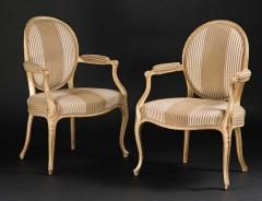 A Pair of George III Giltwood Armchairs - 1308178