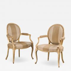 A Pair of George III Giltwood Armchairs - 1310280
