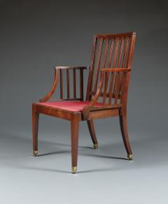 A Pair of George III Mahogany Armchairs Of Cockpen Design - 1342363