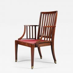 A Pair of George III Mahogany Armchairs Of Cockpen Design - 1344510