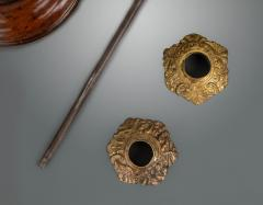 A Pair of George III Mahogany and Brass Candlesticks - 1131535