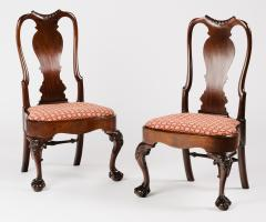 A Pair of Irish Mahogany Side Chairs - 398467