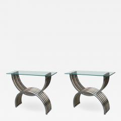 A Pair of Italian Modernist Metal Consoles - 1601885