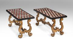 A Pair of Italian Pietra Dura Marbles Now with Later Coffee Table Bases - 717972