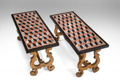A Pair of Italian Pietra Dura Marbles Now with Later Coffee Table Bases - 717976