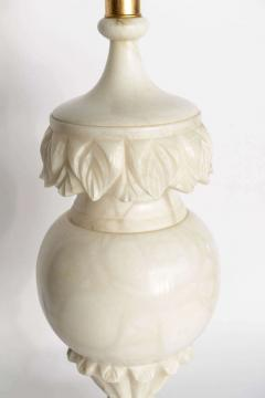A Pair of Large Italian Neoclassic Style Alabaster Urns Mounted as Lamps - 348545