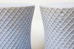 A Pair of Light Blue Garden Stools - 1311091
