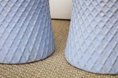 A Pair of Light Blue Garden Stools - 1311092