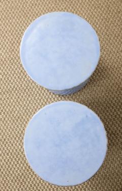A Pair of Light Blue Garden Stools - 1311094