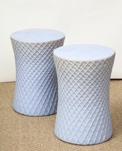 A Pair of Light Blue Garden Stools - 1311096