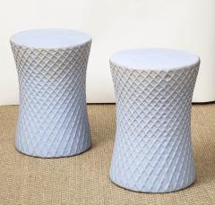 A Pair of Light Blue Garden Stools - 1311100