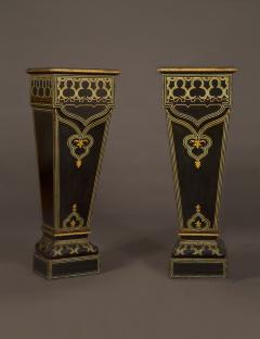 A Pair of Louis Philippe Tapering Pedestals In The Exotic Taste - 372037