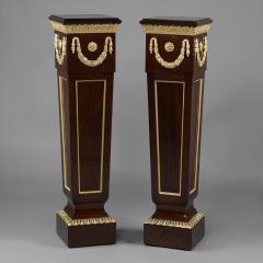 A Pair of Louis XVI Style Mahogany Pedestals - 1024228
