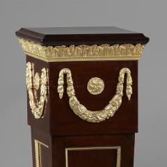 A Pair of Louis XVI Style Mahogany Pedestals - 1024229