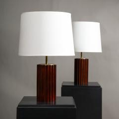 A Pair of Mahogany Cuban Lamps - 1181210