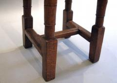 A Pair of Oak Choir or Joint Stools with Shaped Tops and Columnar Legs - 315360