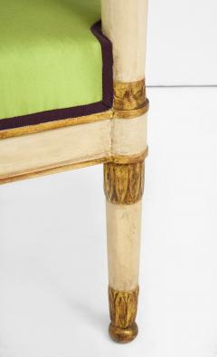 A Pair of Painted and Parcel Gilt Empire Armchairs - 2055725