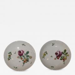 A Pair of Porcelain Saucers Painted with Floral Decoration - 308388
