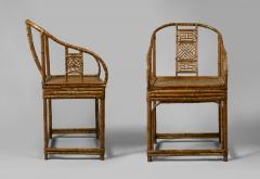 A Pair of Rare Chinese Bamboo Armchairs - 794861
